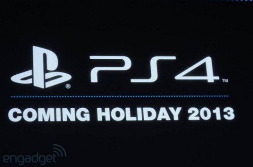 PlayStation 4 coming holiday 2013 image