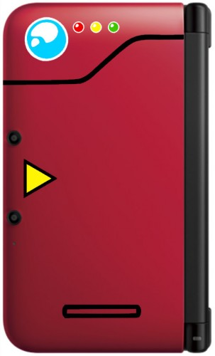 Pokedex decal red 3DS XL image