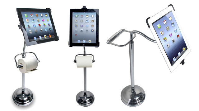 Toilet-Paper-Holding iPad Stand