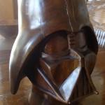 Walnut Darth Vader Helmet