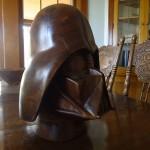 Walnut Darth Vader Helmet 2