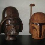 Walnut Darth Vader Helmet 4