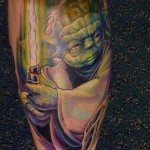 Yoda Sword Tattoo