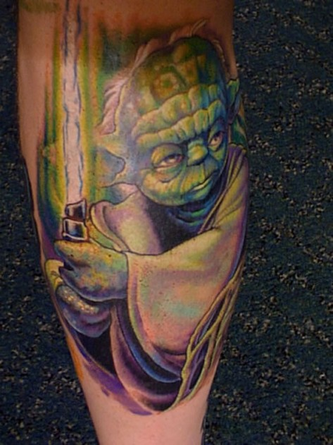 Yoda Sword Tattoo