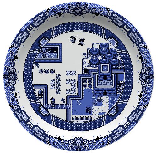Zelda Links Awakening Plate by Olly Moss