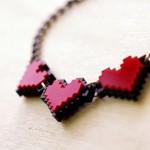 zelda pixel heart jewelry by nastalgame image 1