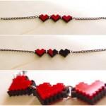 zelda pixel heart jewelry by nastalgame image 2