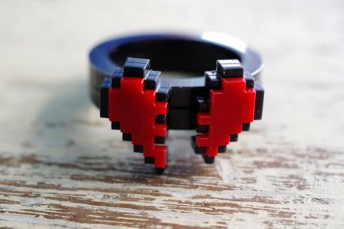 zelda pixel heart jewelry by nastalgame image 3