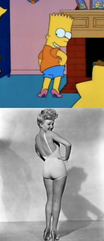Bart as Betty Grable
