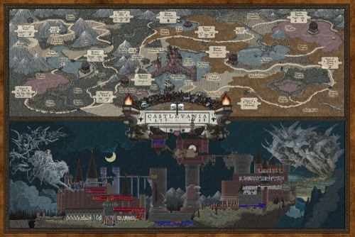 Castlevania map by Bill Mudron image 1