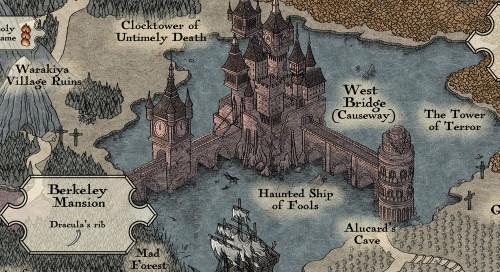 Castlevania map by Bill Mudron image 2