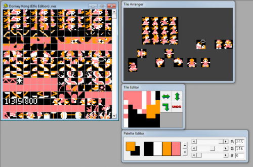 Donkey Kong Pauline Edition tile pro editor by Mike Mika image