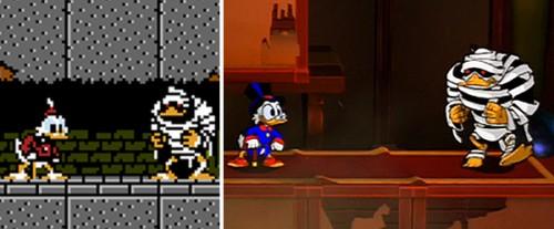 DuckTales Remastered sprite comapre NES image