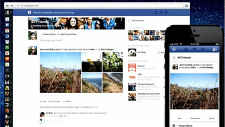 Facebook redesign image