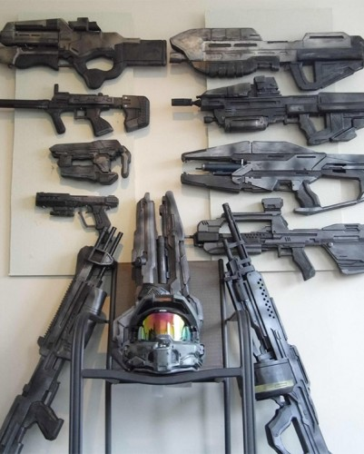 Halo and Mass Effect replica weapons by Andrew Cook image