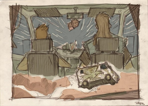 Han & Chewie Millenium Falcon