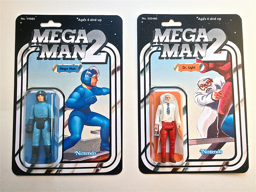 Mega Man and Dr. Light vintage action figures by Chicago Toy Collector image 1