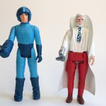 Mega Man and Dr. Light vintage action figures by Chicago Toy Collector image 2