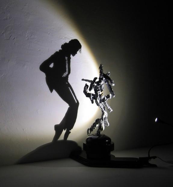 Michael Jackson Shadow Sculpture