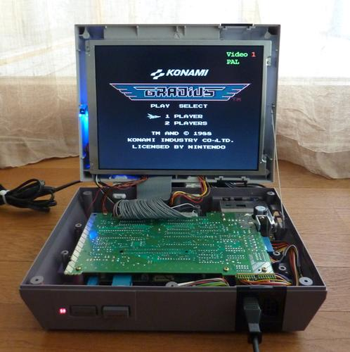 NES mod with built in screen by Silius image