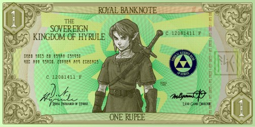 One Rupee Hylian Banknote by G33k1nd159153 image