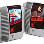 Retro video game cartridge pillow set from ThinkGeek image 1