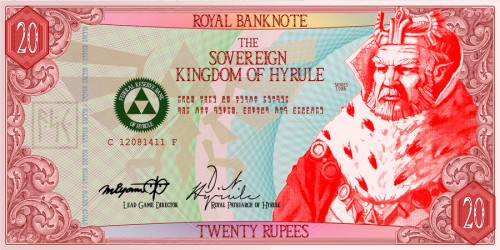 Five Rupee Hylian Banknote by G33k1nd159153 image