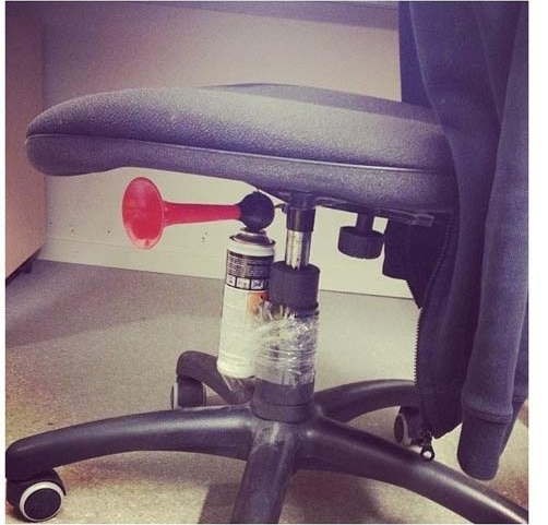 evil office prank