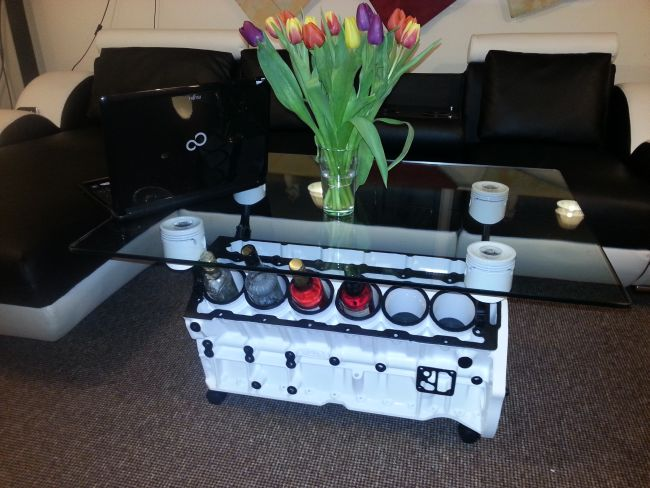 v12 jaguar engine coffee table 6