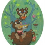 Bears eating goldilocks