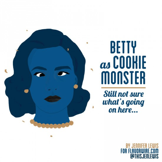 Betty Francis as Cookie Monster