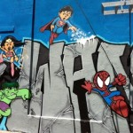 Comic book heroes graffiti