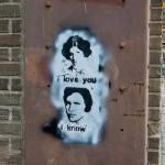 Han Solo Leia Graffiti