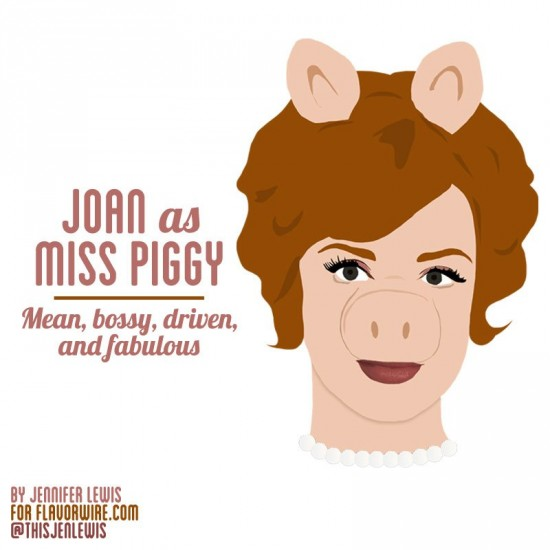 Joan Holloway, Miss Piggy