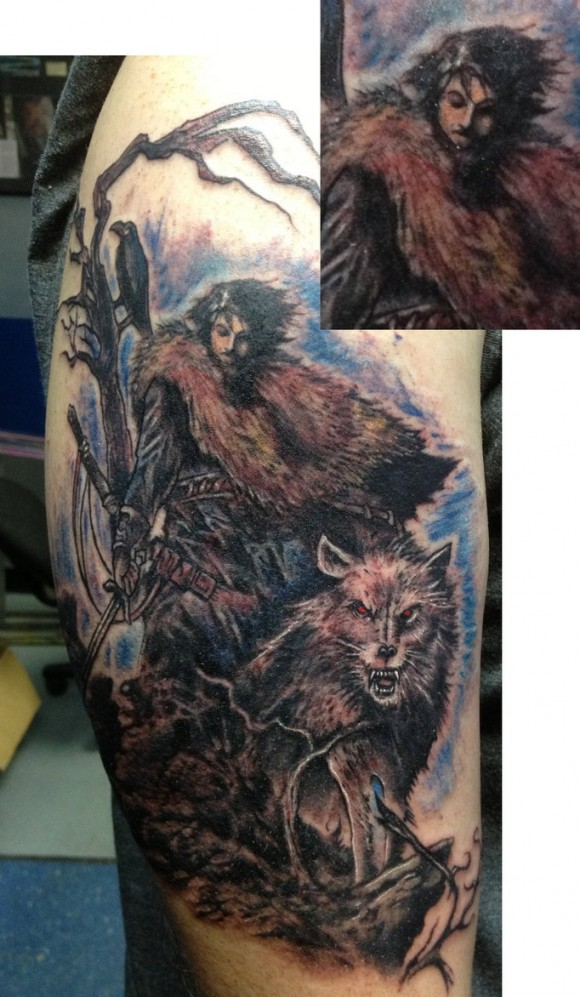Jon Snow & Direwolf