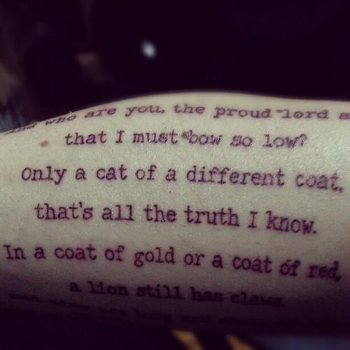 Lannister Tattoo