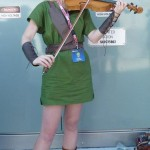 Lara playing violin