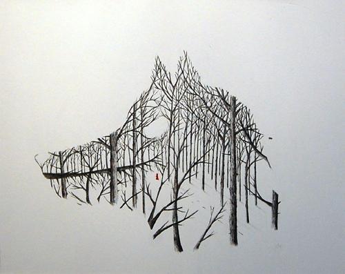 Matt Saunders Wolf Forest