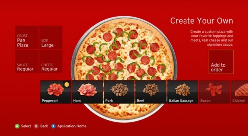 Pizza Hut app Xbox 360 image 2