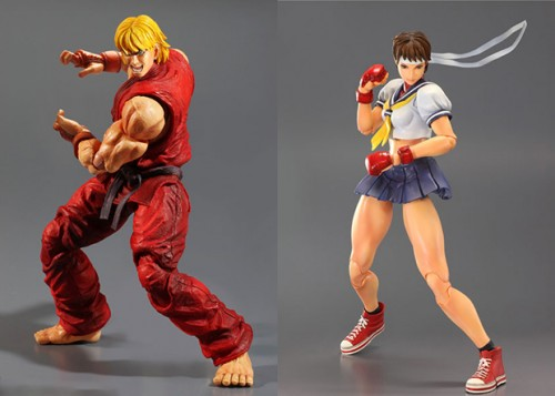 Play Arts Kai Street Fighter IV Ken & Sakura image