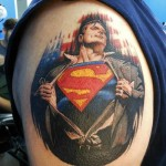 Portrait of Superman Tat