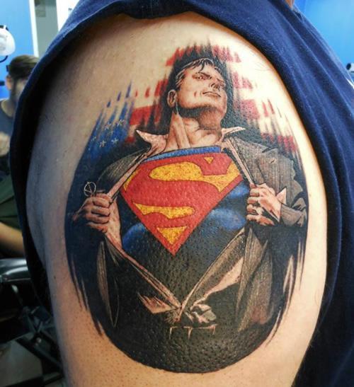 Portrait of Superman Tat