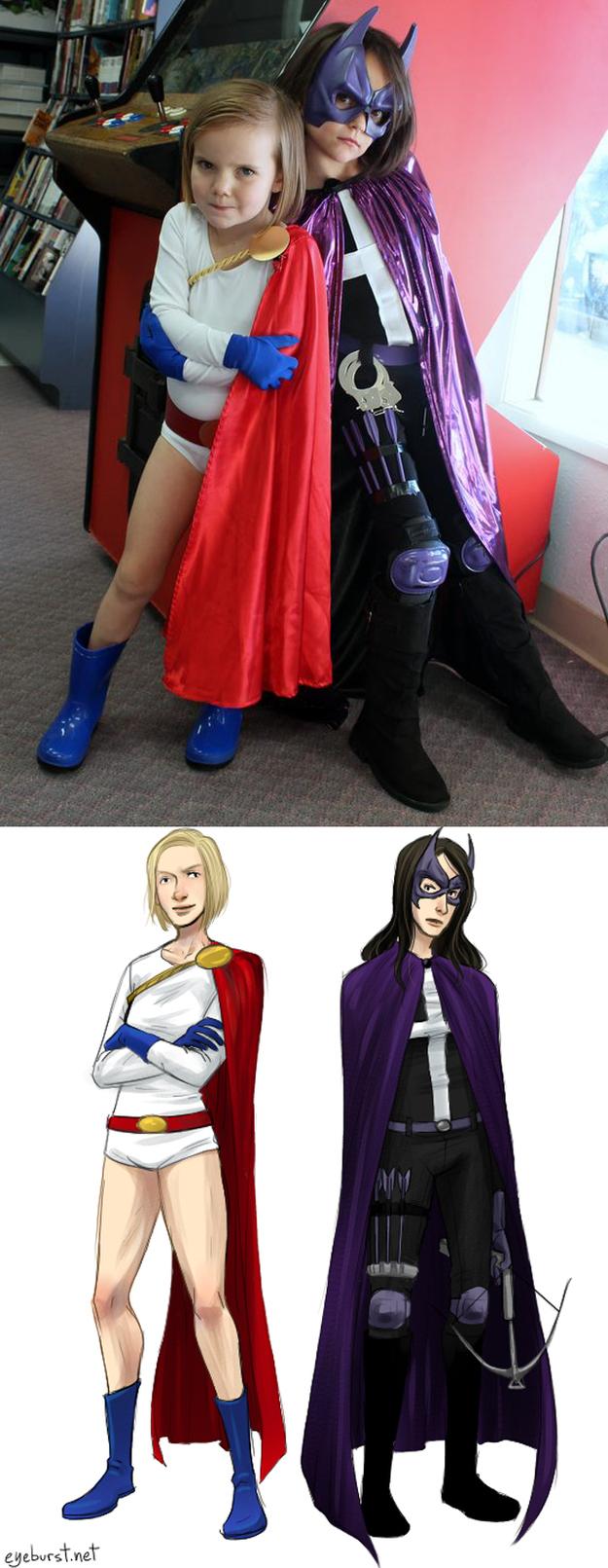 Power Girl & Huntress