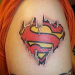 Shoulder Superman Tattoo