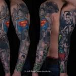 Superman Sleeve Tattoo