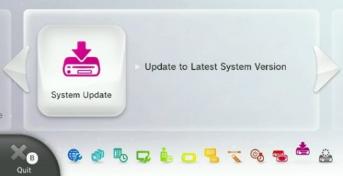 Wii U system update image