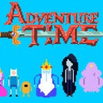 Adventure Time 8-bit Wallpaper