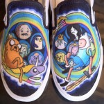 Adventure Time Custom Vans