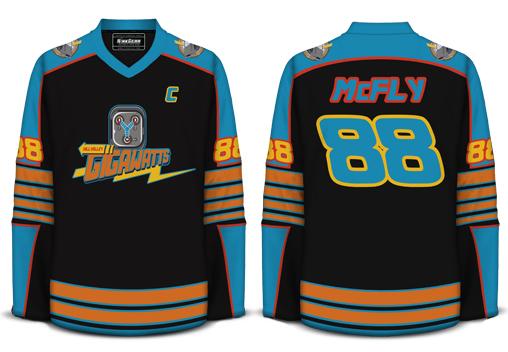 Back to the Future Hockey Shirt