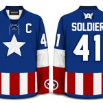 Captain America Hockey Jersey